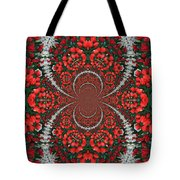 Tulips Kaleidoscope - Red And Green Tote Bag