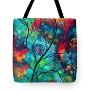 Bold Rich Colorful Landscape Painting Original Art Colored Inspiration By Madart Tote Bag by Megan Duncanson