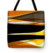Bold- Yellow Orange Black And Gray Art Tote Bag