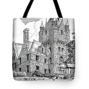 Boldt Castle With Seagull Tote Bag
