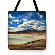 Bolivia Lagoon Clouds Framed Tote Bag
