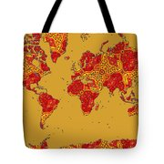 Bollywood Colors Awesome Paisley World Map Tote Bag