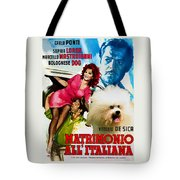 Bolognese Dog Art - Matrimonio All Italiana Movie Poster Tote Bag