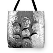 Bolted Silver Tote Bag