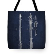 Bomb Lance Patent Drawing From 1885 Tote Bag