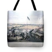 Bombardment Of Fort Fisher Tote Bag