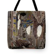 Bombed Out Interior Of Albert Church Tote Bag by Ernest Proctor
