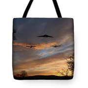 Bombers Pass By  Tote Bag