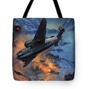 Bombing Scene Artist C E Turner  Tote Bag