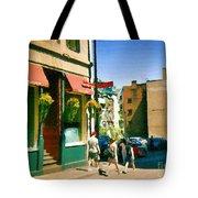 Bonaparte 4 Star Classic French Resto Vieux Montreal Paris Style Bistro Paintings Carole Spandau Art Tote Bag