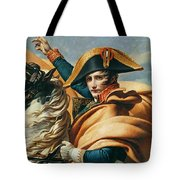 Bonaparte Crossing The Alps Oil On Canvas Detail Of 18491 Tote Bag