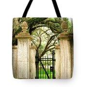 Bonaventure Cemetery Gate Savannah Ga Tote Bag