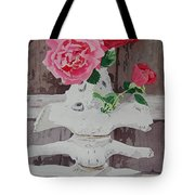 Bones And Roses Tote Bag