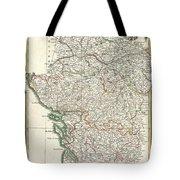 Bonne Map Of Poitou Touraine And Anjou France Tote Bag