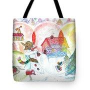 Bonnefemme De Neige / Snow Woman Tote Bag