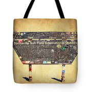 Bonneville Salt Flats Sign Tote Bag