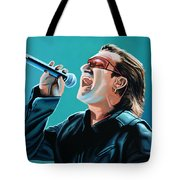 Bono Of U2 Painting Tote Bag