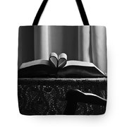 Book Heart 3 Tote Bag