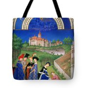 Book Of Hours: April Tote Bag