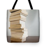 Book Stack On Table Tote Bag