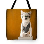 Bookish Dog Tote Bag by Edward Fielding