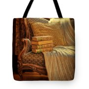 Books On Victorian Sofa Tote Bag
