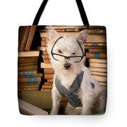 Bookworm Dog Tote Bag