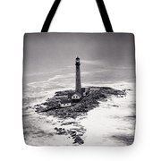 Boon Island Light Tower Circa 1950 Tote Bag by Aged Pixel