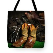 Boots And Bags Tote Bag by Bob Hislop