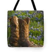 Boots And Bluebonnets Tote Bag