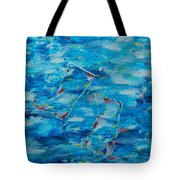 Boots In River Tote Bag