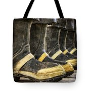 Boots On The Ground Tote Bag by Joan Carroll