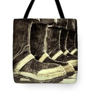 Boots On The Ground Monotone Tote Bag by Joan Carroll