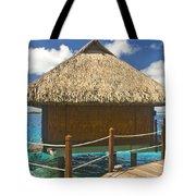Bora Bora Bungalow Tote Bag
