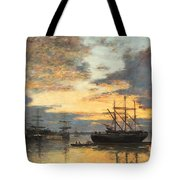 Bordeaux In The Harbor Tote Bag
