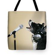 Border Collie Dog Singing Tote Bag