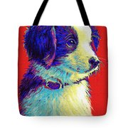 Border Collie Puppy Tote Bag
