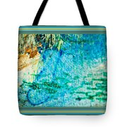 Borderized Abstract Ocean Print Tote Bag