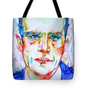 Boris Vian - Colored Pens Portrait Tote Bag