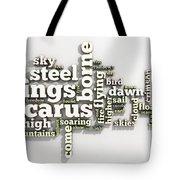 Borne On Wings Of Steel Tote Bag