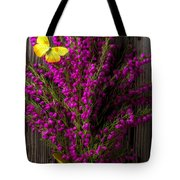 Boronia With Yellow Butterfly Tote Bag