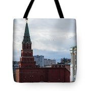 Borovitskaya Tower Of Moscow Kremlin Tote Bag