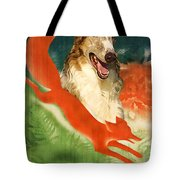 Borzoi Art - Hunting In The Ussr Poster Tote Bag