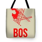 Bos Boston Airport Poster 1 Tote Bag by Naxart Studio