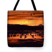 Bosque Del Apache Sunrise 1 Tote Bag
