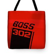 Boss 302 Emblem On A Car Tote Bag