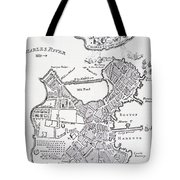 Boston And Bunker Hill 1781 Tote Bag by American School