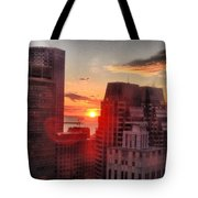 Boston At Dawn Tote Bag