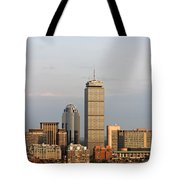 Boston Back Bay With The Prudential Tower Tote Bag by Jannis Werner