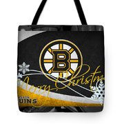 Boston Bruins Christmas Tote Bag